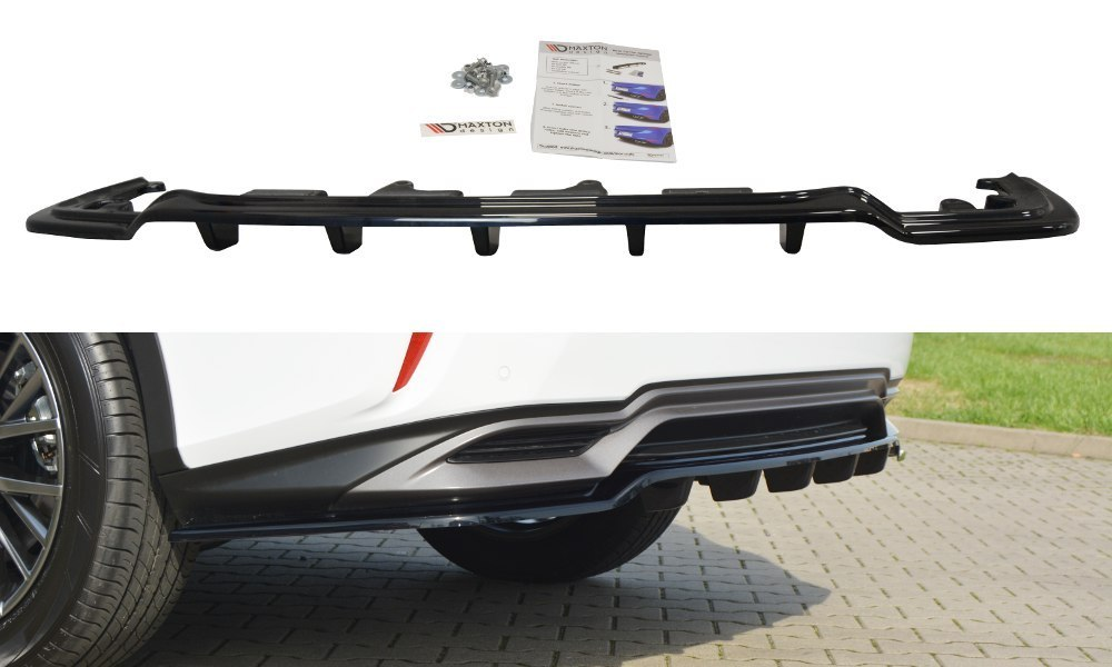 Splitter Tylny Środkowy Lexus RX Mk4 H (Z dyfuzorem) - GRUBYGARAGE - Sklep Tuningowy